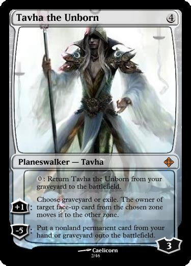 Planeswalker Card Template by Colorless Quot Ghost Quot Planeswalker Tavha Custom Card