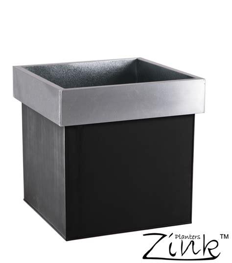 Cube Planter by Zinc Monochrome Cube Planter 60cm