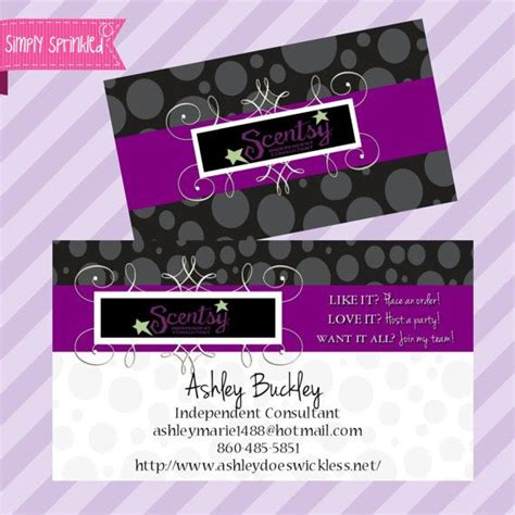 Free Scentsy Business Card Template by Pin By Huskey On Simply Sprinkled