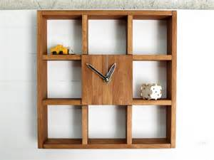wall box shelving large wall clock shadow box shelf rustic centerpiece wall