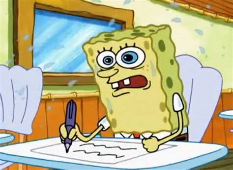 spongebob writing paper what i learned in boating school