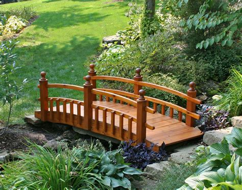 landscaping bridge red cedar eden 1 2 picket rail bridge
