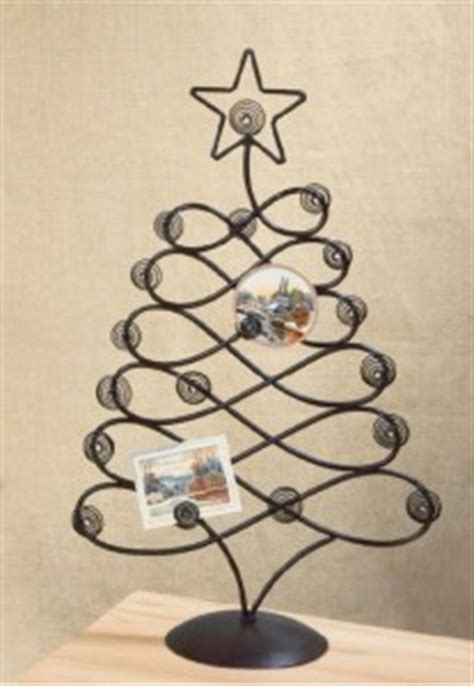 metal table top card photo tree holder christmas card