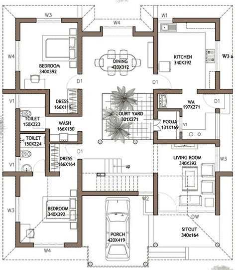 3 Bedroom House Plans In Kerala Savae Org Single Floor 3 Bhk House Plans