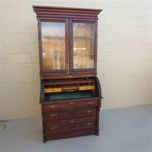 american antique cylinder desk secretary bookcase antique