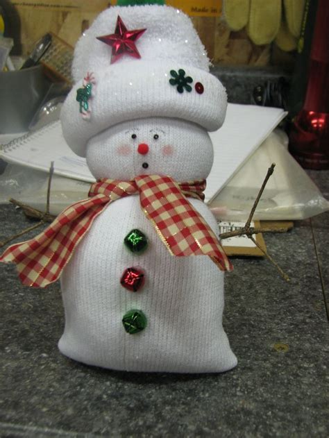 sock snowman holiday crafts pinterest