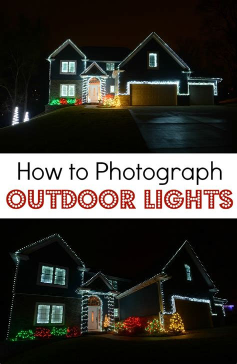 how to photograph outdoor christmas lights decor and the dog