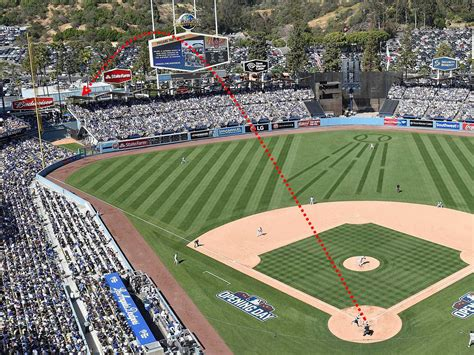 video giancarlo stanton hit  home run completely   dodger stadium business insider