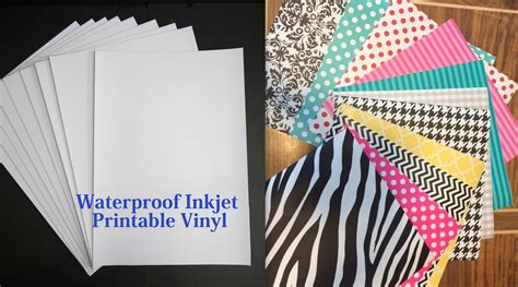 printable vinyl inkjet printable vinyl sheets create your own printed
