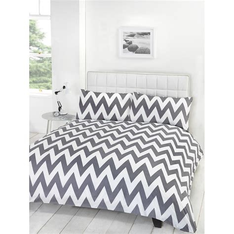 grey chevron bedding grey chevron bedding set modern reversible grey chevron