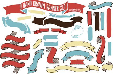 Seventeen Handbanner 1 banner set objects creative market
