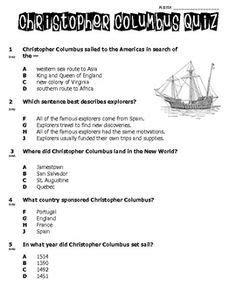 christopher columbus biography for first grade columbus day worksheet reading comprehension reading