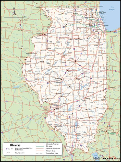 county map illinois county wall map maps