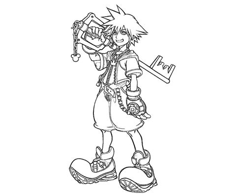 kingdom hearts coloring pages sora free sora coloring pages