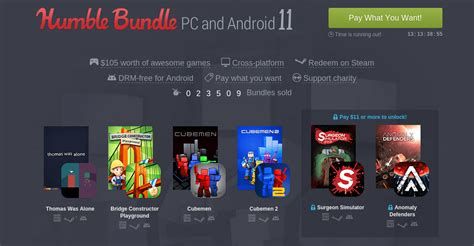 humble bundle android humble bundle for pc and android 11 is now available android authority