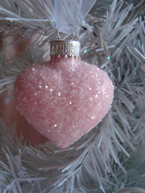 1 pink glass heart ornament 11 99 shabby crabby