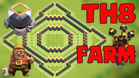 coc layout anti dragon th8 coc th8 farming base anti giant anti dragon