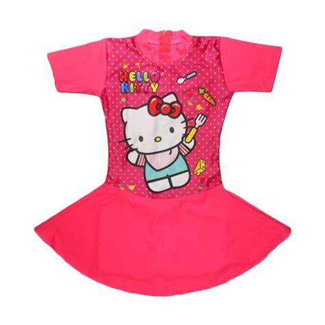 Pineapple Rok Hello Baju Anak Perempuan jual abg motif hello polka baju renang rok anak fuschia harga