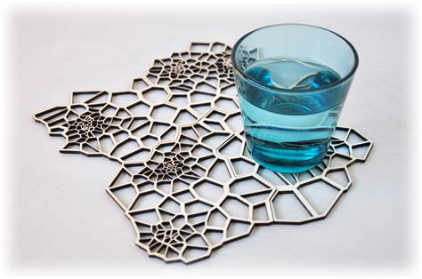 geometric pattern laser cut geometric wooden drink coasters laser cut pattern set 4