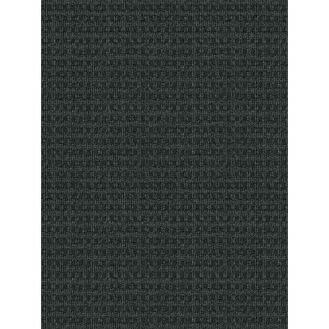 Foss Checkmate Charcoal Black 6 Ft X 8 Ft Indoor Outdoor Outdoor Carpet Rugs