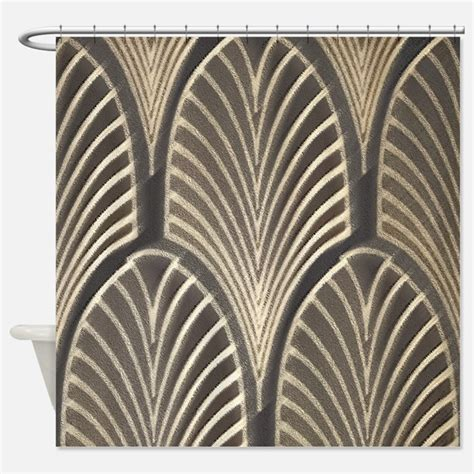 Art Deco Shower Curtains Art Deco Fabric Shower Curtain