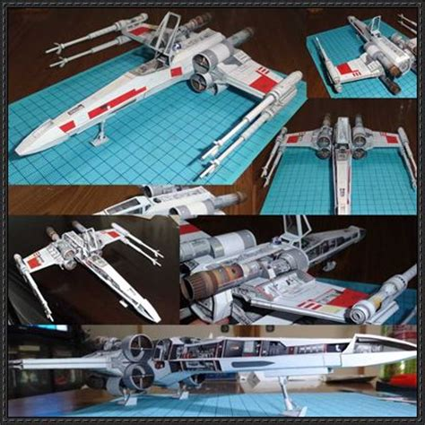 X Wing Papercraft - wars detailed x wing t 65 starfighter free