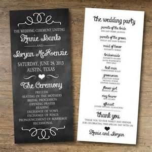 create a wedding program chalkboard wedding program free printable wedding program templates popsugar smart living