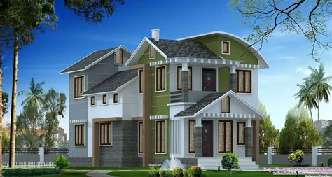 house villa design rare villa elevation in 1900 sq ft