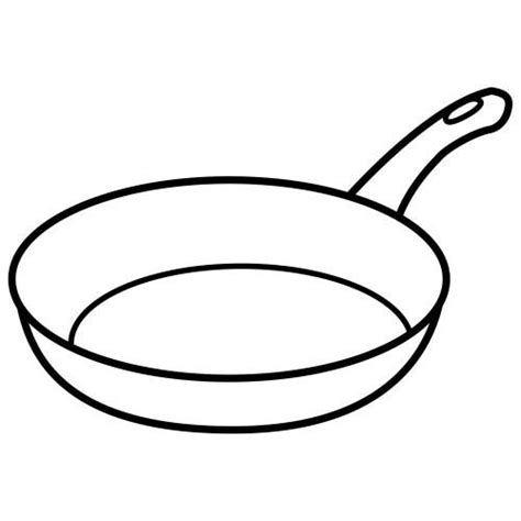 Coloring Pages Pan frying pan coloring coloring pages