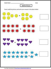 worksheet simple addition worksheets kindergarten