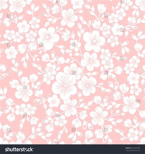 flowers seamless pattern element vector background vector sakura flower seamless pattern element stock vector
