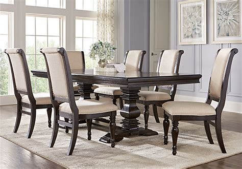 rectangle dining room sets westerleigh oak 7 pc rectangle dining room transitional
