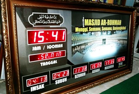 Termometer Digital Di Jogja jadwal sholat digital di yogyakarta smart techno center