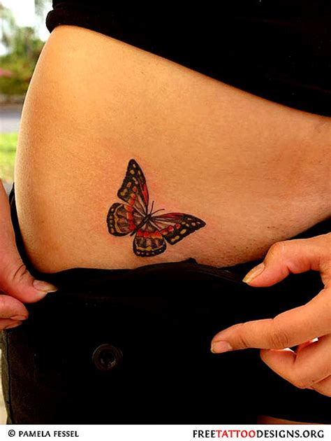 small butterfly tattoos on hip butterfly hip tattoos