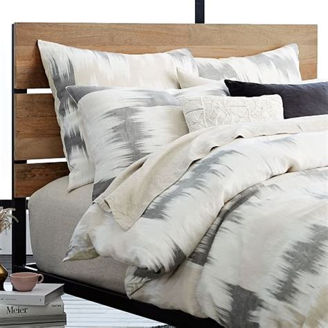 industrial headboard west elm