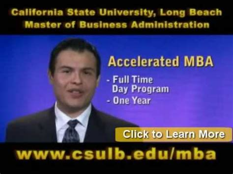 One Year Mba Aacsb by California State Mba Programs