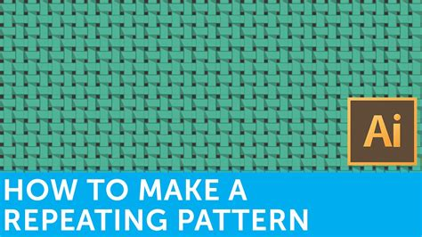 Make Repeating Pattern Adobe Illustrator | flat design tutorials how to make a repeating pattern in