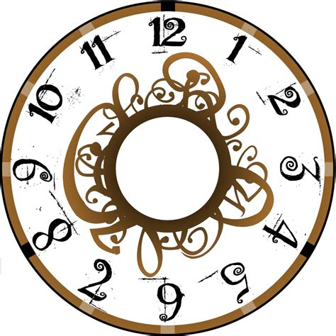 printable antique clock face designs clock face picture clipart best