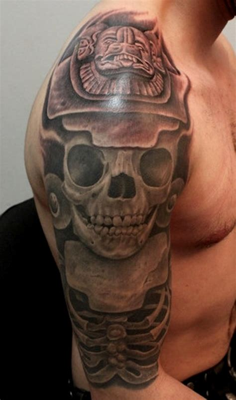 aztec skull tattoos 41 lovely aztec shoulder tattoos