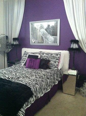 Girls Purple Zebra Room Ideas Monroe Teen Purple Zebra Purple And Zebra Bedroom Ideas