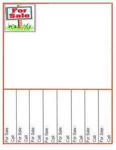 for sale template with tear offs 122 best images about printable charts templates forms