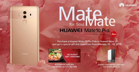 Huwae Soulmatecom get freebies when you purchase a huawei 2i or a pink mate 10 pro noypigeeks