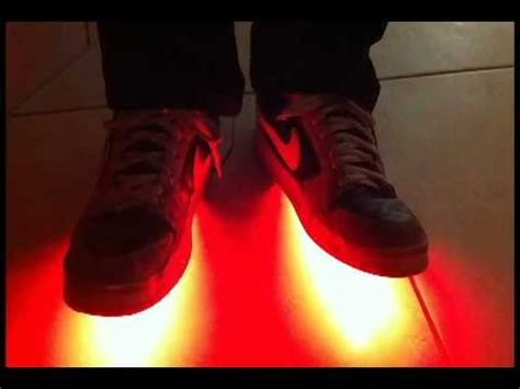 light up shuffle shoes led light shoes with shuffling demo youtube
