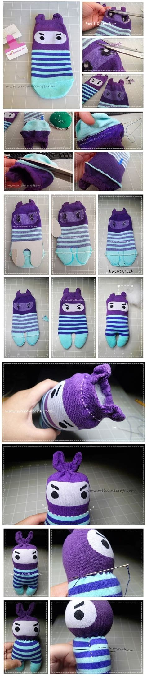Kaos Bunny And Knit 25 best ideas about sock dolls on diy doll