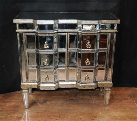 mirrored furniture deco mirror chest drawers mirrored furniture chests cabinet ebay