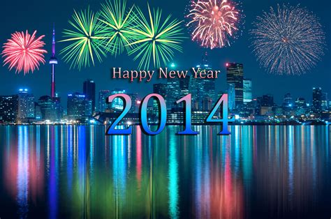 new year 2014 on a background of fireworks wallpapers and
