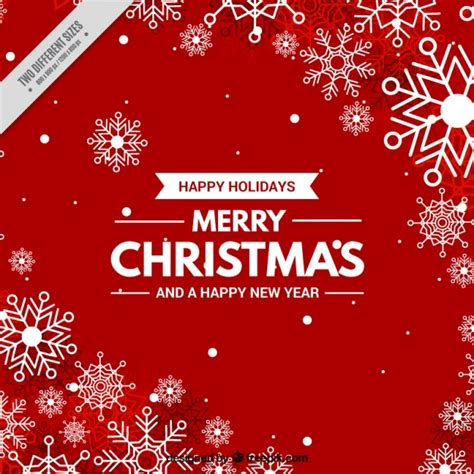 merry christmas wallpaper vector christmas red background with snowflakes vector free