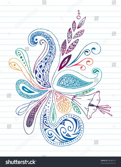 pen doodles vector colorful pen doodles stock vector illustration 38980513