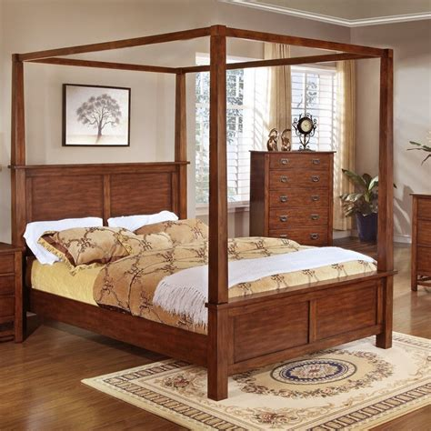King Size Canopy Bed Canopy Bed King Size King Bedroom Furniture Bed Frame With Corner Posts F9277 Ebay