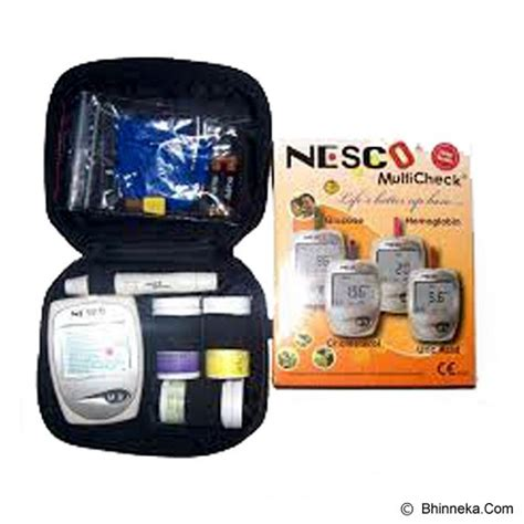 Alat Alat Tes Nesco jual alat ukur kadar gula nesco gcu multi check 3 in 1 ng